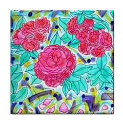 Roses And Movie Theater Carpet Face Towel by okhismakingart