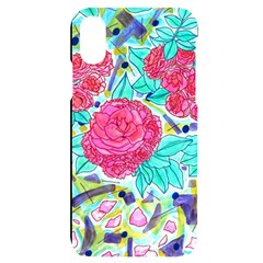 Roses And Movie Theater Carpet Apple Iphone X/xs Black Uv Print Case by okhismakingart