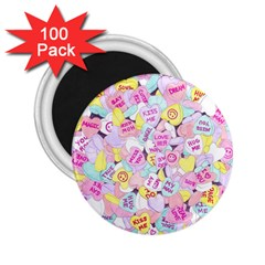 Candy Hearts (sweet Hearts Inspired) 2 25  Magnets (100 Pack)  by okhismakingart