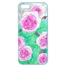 Roses With Gray Skies Apple Seamless Iphone 5 Case (color)