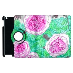 Roses With Gray Skies Apple Ipad 2 Flip 360 Case by okhismakingart