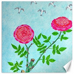 Roses And Seagulls Canvas 12  X 12  by okhismakingart