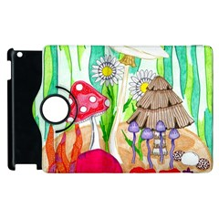 Iguana And Mushrooms Apple Ipad 2 Flip 360 Case by okhismakingart