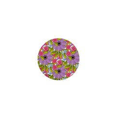Fancy Floral Pattern 1  Mini Buttons by tarastyle