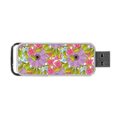 Fancy Floral Pattern Portable Usb Flash (one Side) by tarastyle