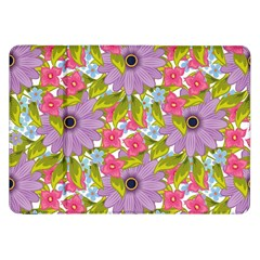 Fancy Floral Pattern Samsung Galaxy Tab 8 9  P7300 Flip Case