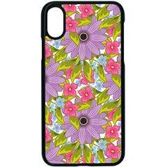 Fancy Floral Pattern Iphone X Seamless Case (black) by tarastyle