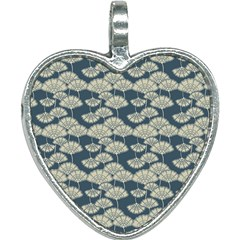 Fancy Floral Pattern Heart Necklace by tarastyle