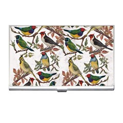 Vintage Birds Business Card Holder