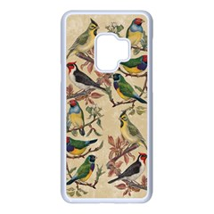 Vintage Birds Samsung Galaxy S9 Seamless Case(white)