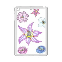 Flower And Insects Ipad Mini 2 Enamel Coated Cases by okhismakingart