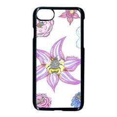 Flower And Insects Iphone 7 Seamless Case (black)