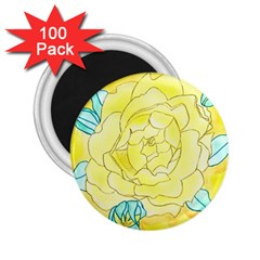 Neutral Rose Watercolor 2 25  Magnets (100 Pack)  by okhismakingart