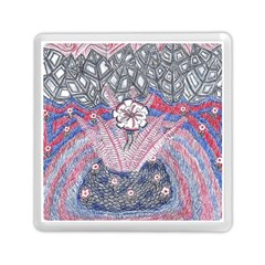 Abstract Flower Field Memory Card Reader (square) by okhismakingart