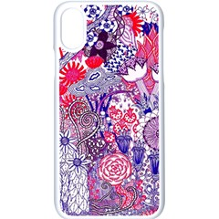 Floral Jungle Purple Iphone Xs Seamless Case (white) by okhismakingart