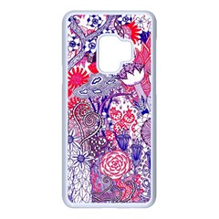 Floral Jungle Purple Samsung Galaxy S9 Seamless Case(white)