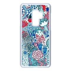 Floral Jungle Blue Samsung Galaxy S9 Plus Seamless Case(white)