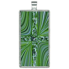 Electric Field Art Vii Rectangle Necklace