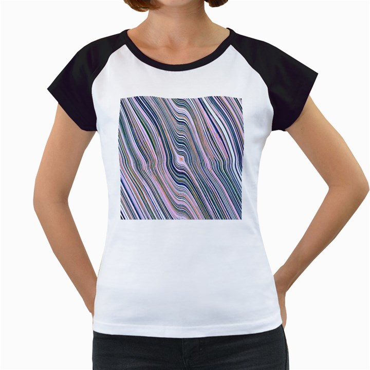 Electric Field Art XXVIII Women s Cap Sleeve T