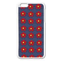 Red Begonias Iphone 6 Plus/6s Plus Enamel White Case by WensdaiAddamns