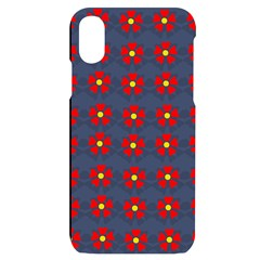 Red Begonias Apple Iphone X/xs Black Uv Print Case by WensdaiAddamns