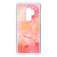 Wonderful Floral Design, Soft Colors Samsung Galaxy S9 Plus Seamless Case(white)