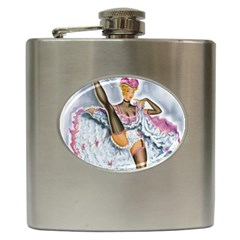 Bal Du Moulin Rouge French Cancan Hip Flask (6 Oz) by StarvingArtisan