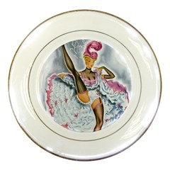 Bal Du Moulin Rouge French Cancan Porcelain Plates by StarvingArtisan