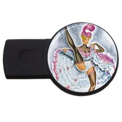 Bal Du Moulin Rouge French Cancan Usb Flash Drive Round (4 Gb) by StarvingArtisan