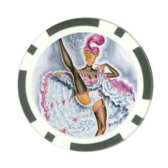 Bal Du Moulin Rouge French Cancan Poker Chip Card Guard (10 Pack) by StarvingArtisan