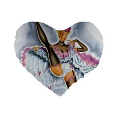 Bal Du Moulin Rouge French Cancan Standard 16  Premium Heart Shape Cushions by StarvingArtisan