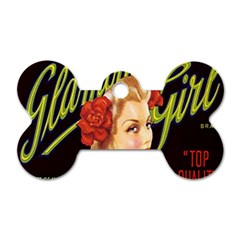 Blonde Bombshell Retro Glamour Girl Posters Dog Tag Bone (two Sides) by StarvingArtisan