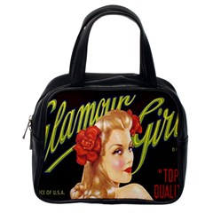 Blonde Bombshell Retro Glamour Girl Posters Classic Handbag (one Side) by StarvingArtisan