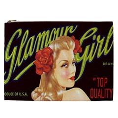 Blonde Bombshell Retro Glamour Girl Posters Cosmetic Bag (xxl) by StarvingArtisan