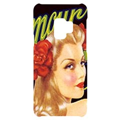 Blonde Bombshell Retro Glamour Girl Posters Samsung S9 Black Uv Print Case by StarvingArtisan