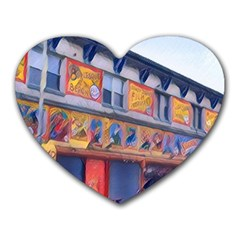 Coney Island Freak Show Heart Mousepads by StarvingArtisan