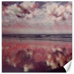 Cloud Reflections On The Beach Canvas 16  X 16