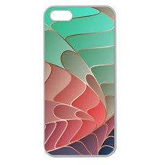 Modern Colorful Abstract Art Apple Seamless Iphone 5 Case (clear) by tarastyle