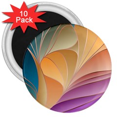 Modern Colorful Abstract Art 3  Magnets (10 Pack)  by tarastyle