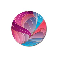 Modern Colorful Abstract Art Magnet 3  (round) by tarastyle