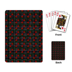 Roses Black Plaid Playing Cards Single Design