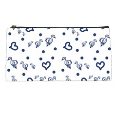 Duck Family Blue Pattern Pencil Cases