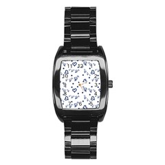Duck Family Blue Pattern Stainless Steel Barrel Watch by snowwhitegirl