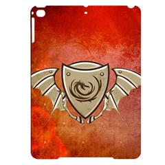Wonderful Dragon On A Shield With Wings Apple Ipad Pro 9 7   Black Uv Print Case