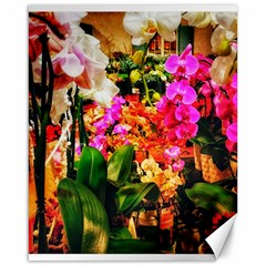 Orchids In The Market Canvas 16  X 20  by okhismakingart