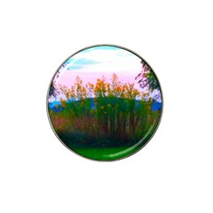 Field Of Goldenrod Hat Clip Ball Marker by okhismakingart