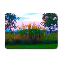 Field Of Goldenrod Small Doormat  by okhismakingart