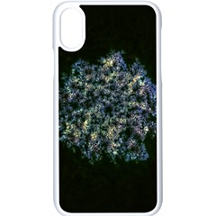 Queen Annes Lace In Blue And Yellow Iphone Xs Seamless Case (white) by okhismakingart