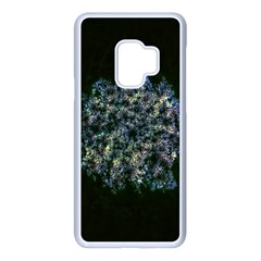 Queen Annes Lace In Blue And Yellow Samsung Galaxy S9 Seamless Case(white)