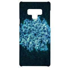 Queen Annes Lace In Neon Blue Samsung Note 9 Black Uv Print Case  by okhismakingart